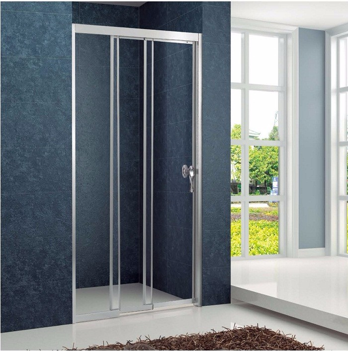 Aluminium Frame Tempered Glass 3 Piece Shower Sliding Door 3 Panel