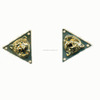 New design lion shape alloy collar tips for garment accessories