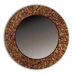 Antique colour makeup artist mosaic round murano glass mirror
