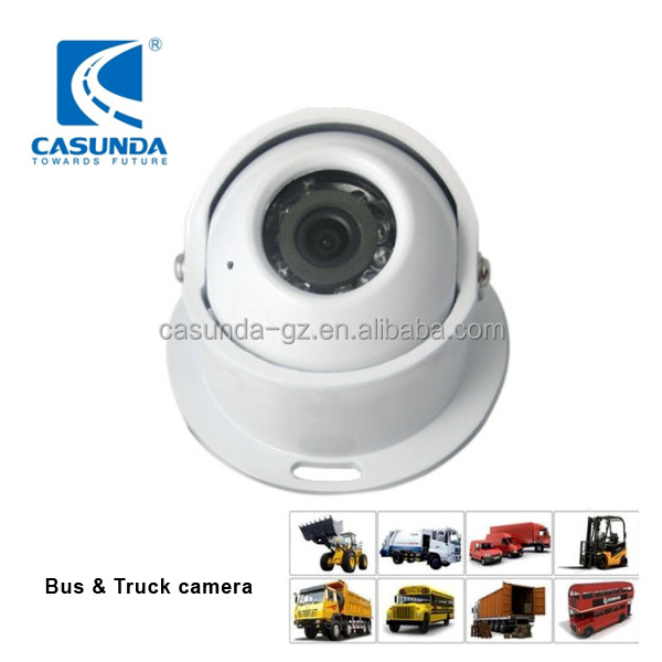 24V bus hidden camera with 600TVL, waterproof bus camera system for airport vehicle, crane, motorhome, truck rearview camera