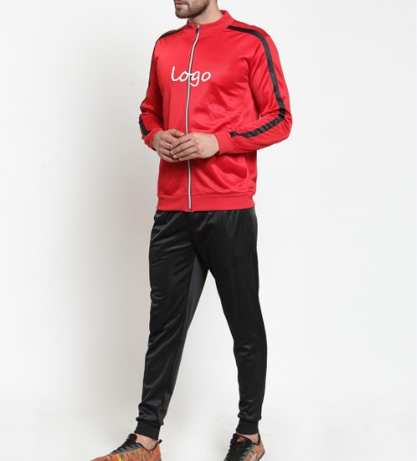 2019 Wholesale Low price new style mens polyester tracksuit kids slim fit a full zip closure long sleeves tracksuit fabric