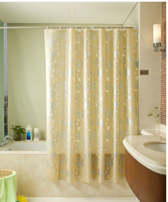 Guida di tenda doccia per vasca ad angolo di plastica ...