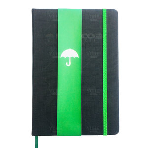 Manufacturer Handmade Custom Eco-friendly Recycled Paper Leather Cover Notebook With Green Sleeve