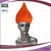 cheap wholesale high quality orange synthetic halloween big troll wig