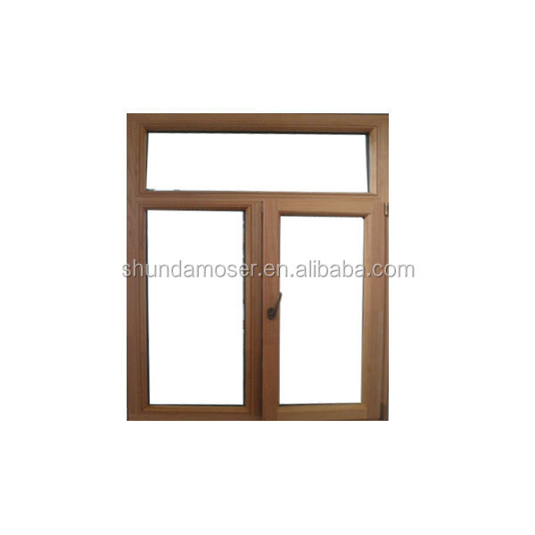 High quality aluminum clad wood tilt and turn windows with German roto hardware