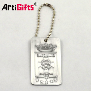 Metal Crafts Factory Cheap Custom Stainless Steel Souvenir Dogtag