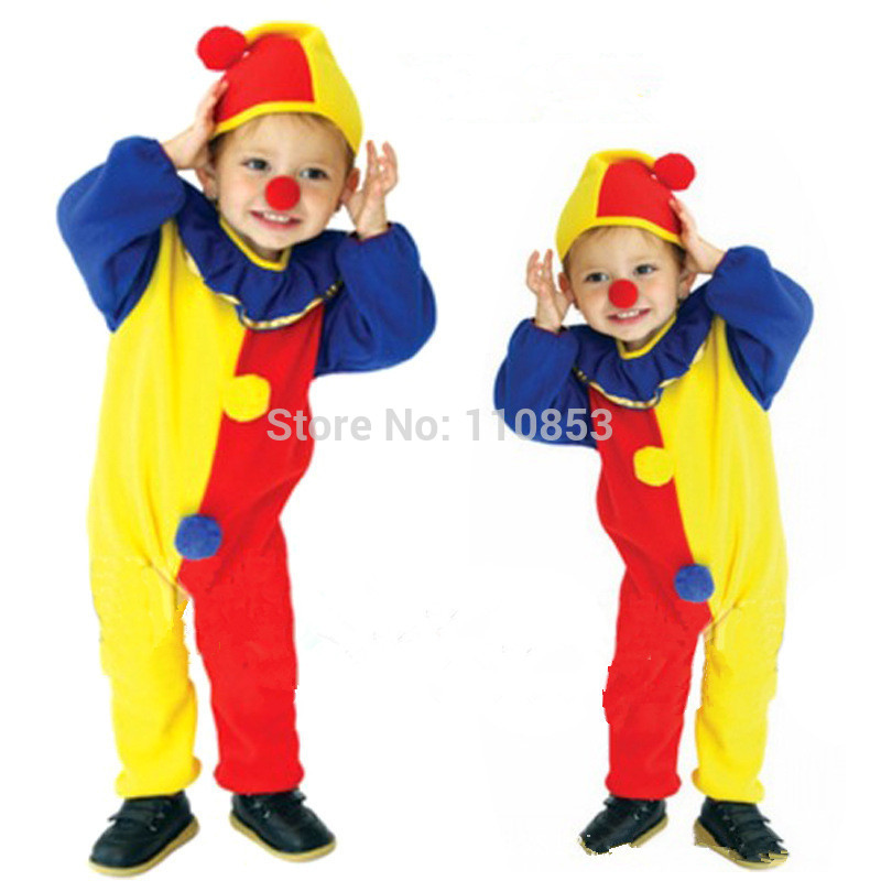 get quotations free shipping new colorful cute clowns humorous children cosplay hallowean costumes for kids evening party boy