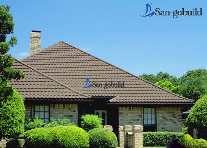 Wholesale price roof shingles stone coated metal roofing for Low cost roofing materials