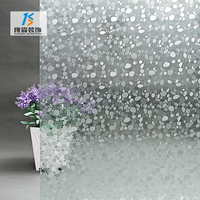 Excellent quality self-adhesive 3d decorative static glass window foil