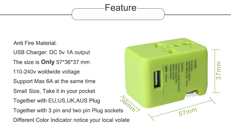 5v 1a adapter charger USB universal fast wall mobile charger custom oem factory