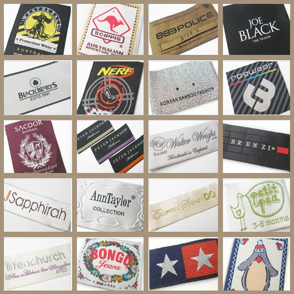 Fake Designer Brand Name Woven China Clothing Labels Buy