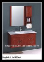 Classic Bathroom Cabinet OAK Bathroom Cabinet With A Mirror Cabinet & short Towel Rack