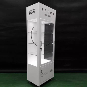 Used Free-Standing Glass Display Showcase/fashional MDF tempered glass display cabinets/Tall display showcase