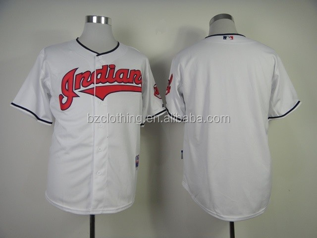 Cleveland Indians White Blank American Baseball Jerseys