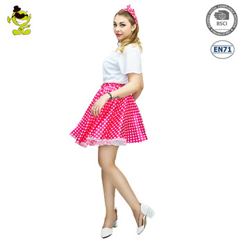 Adult Pink Candy Girl Costume Bubble Gum Clown Party Dress Costumes