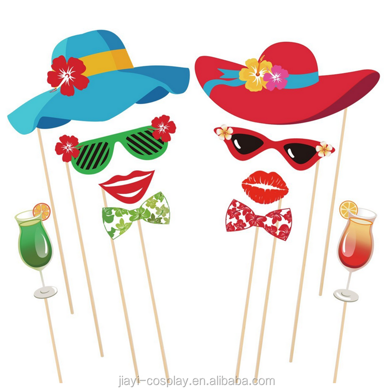 Summer party Photo Booth props kit para la boda de vacaciones Beach Party decoraciones