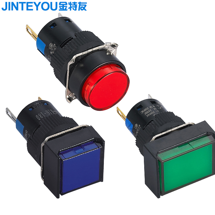 16mm DC 5V AD56-16DS Green LED Power Indicator Signal Light