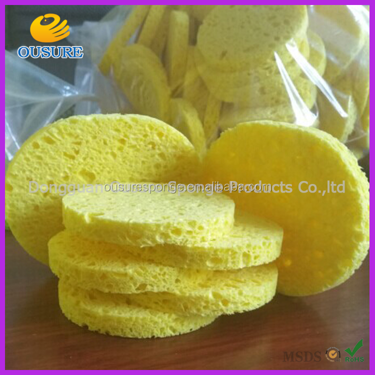 eco-friendly multi colors cellulose sponge facial cleansing puff face cleansing pad