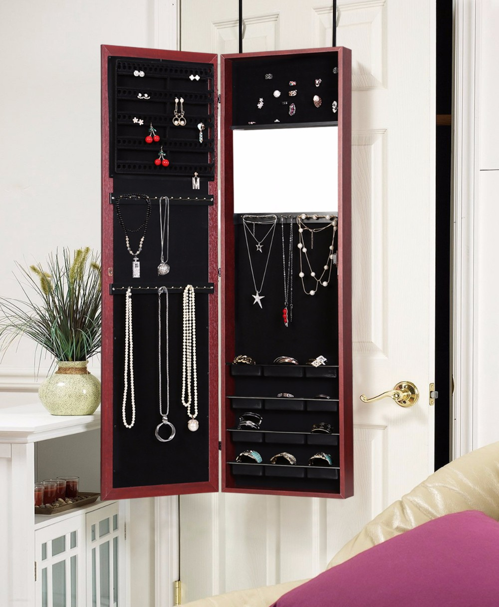 Over The Door/wall-mount Jewelry Armoire With Full Length ...
