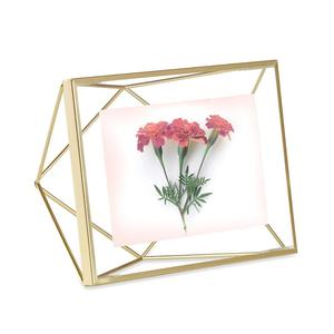 5*7inches double sided curved glass metal photo frames for home decor