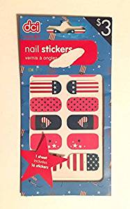 16 Nail Stickers Ages 6+ : Proud to be American America the Beautiful American Flag Stickers Nail Decal