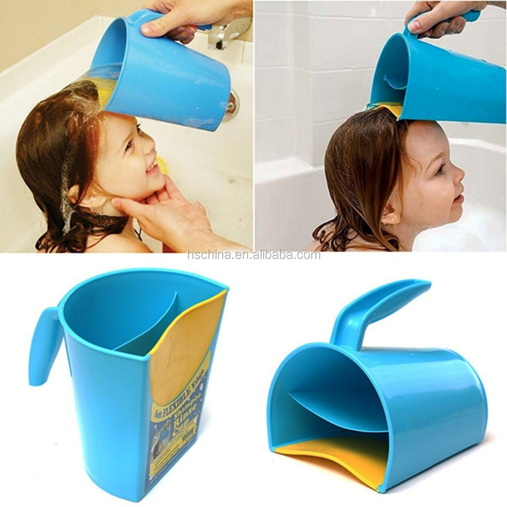 Safety baby and child wash hair eye shield bath shampoo for Childrens shower head
