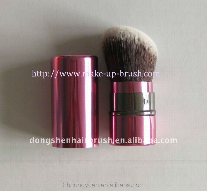 angled synthetic retractable kabuki brush,mineral foundation powder DY
