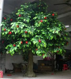 indoor artificial tree evergreen leaves fiberglass material ...
