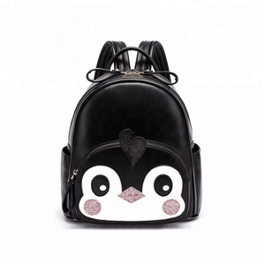 2018 Korean fashion penguin 2D graphic school bags cartoon backpack for children
