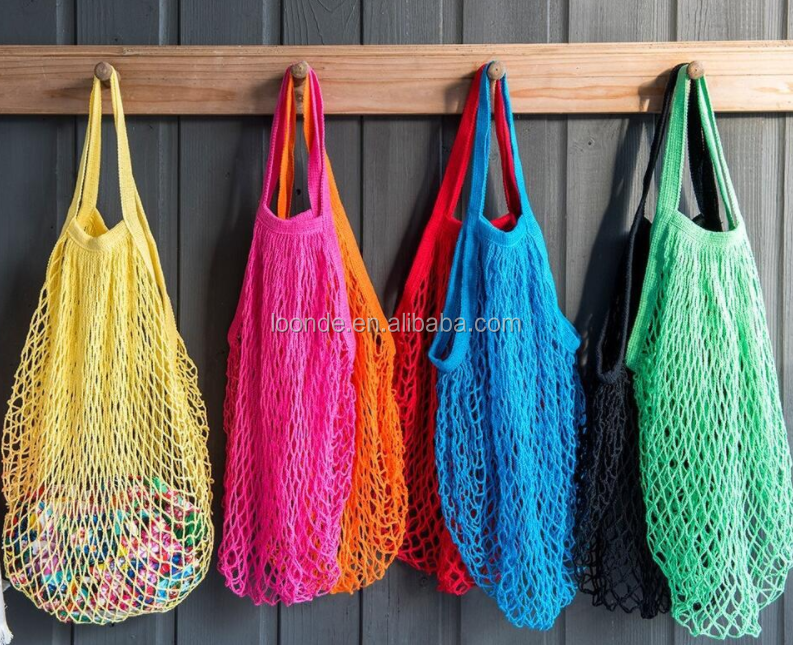 New fashion woven grocery net shoulder bag for fruits and vegetables