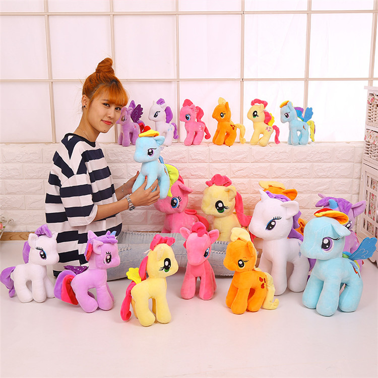 Cartoon Pop Little Pony Pluche Pop Regenboog custom pluche speelgoed en poppen