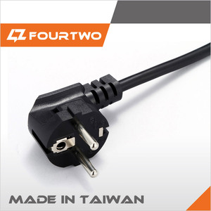 VDE approved European power extension cord 3 pin plug power cable, ac power cord