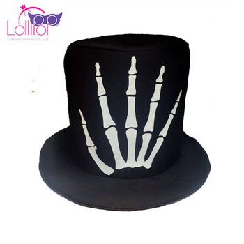 Halloween party decoration polyester fashion skeleton caps hats men for sale