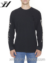 Front&Sleeve Print Long Sleeve Black Tee for Man