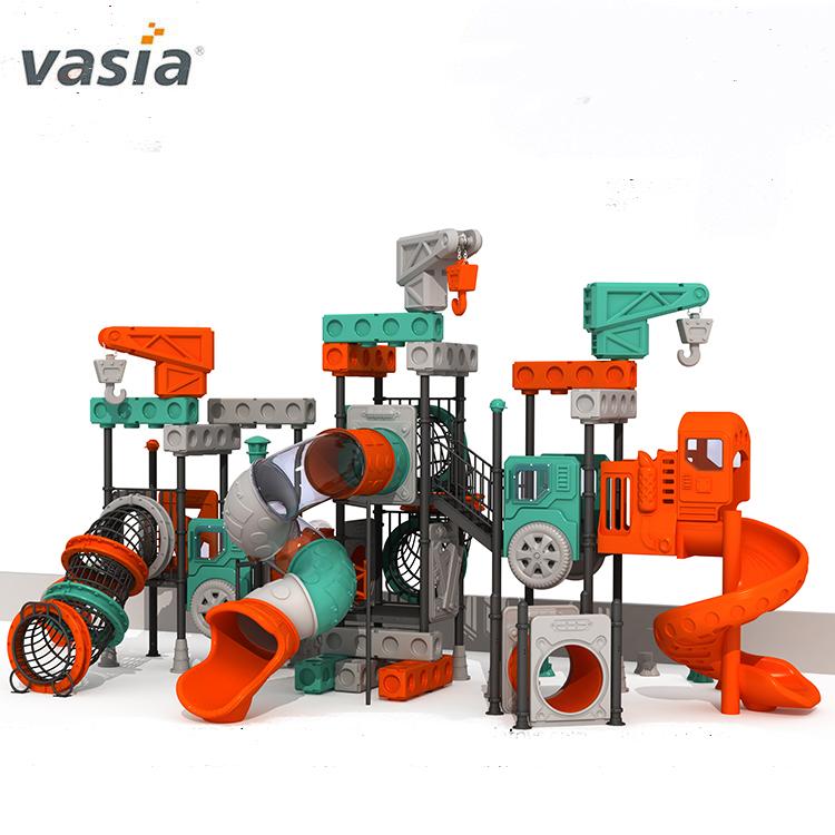 Vasia-tobogán de plástico residencial para patio de recreo al aire libre, juguete usado para niños, equipo de juegos al aire libre para niños