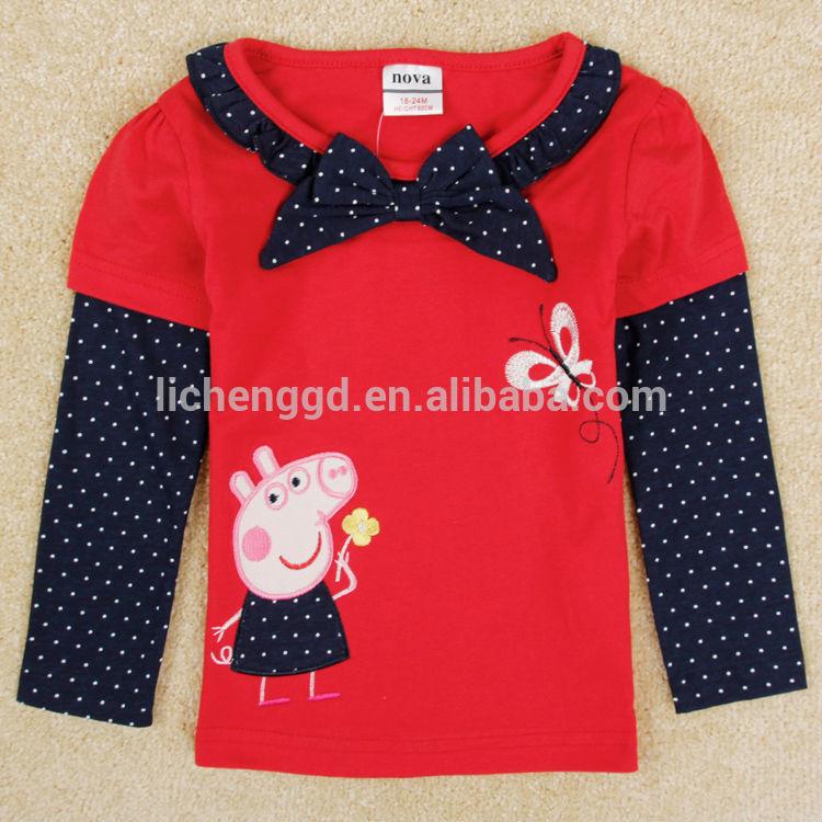 jeunesse vtements peppa pig t shirts pour enfants nouveau mode enfants filles portent