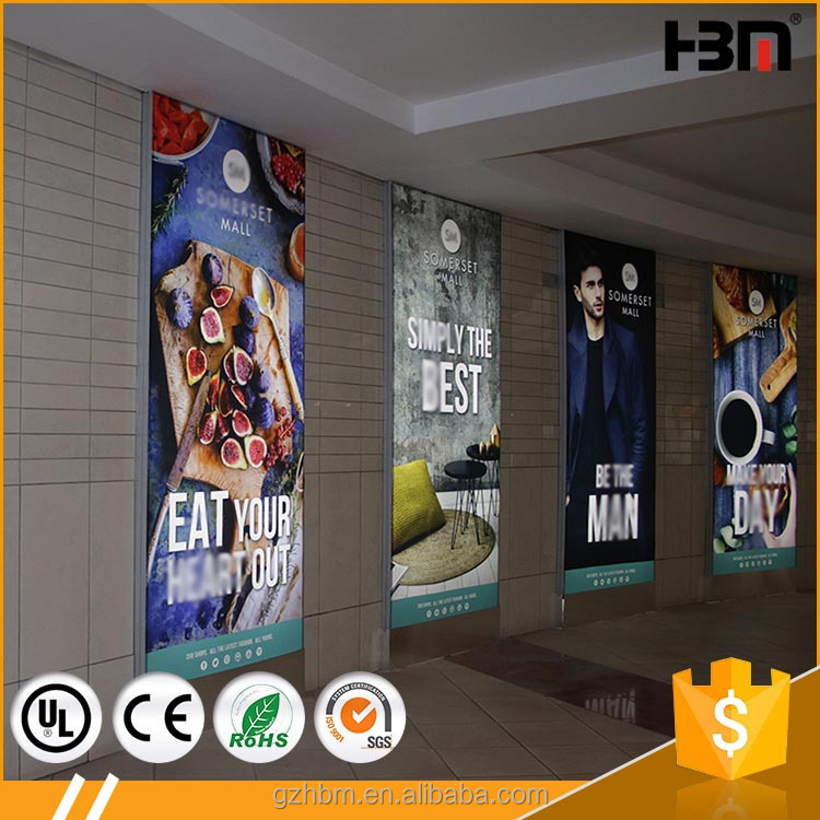light box menu board fabric sign display lightbox for shopping mall indoor poster display