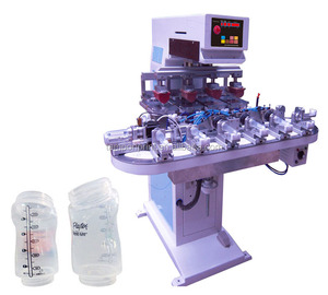 6Colors PP Feeding Bottle Tampo Printing Machine