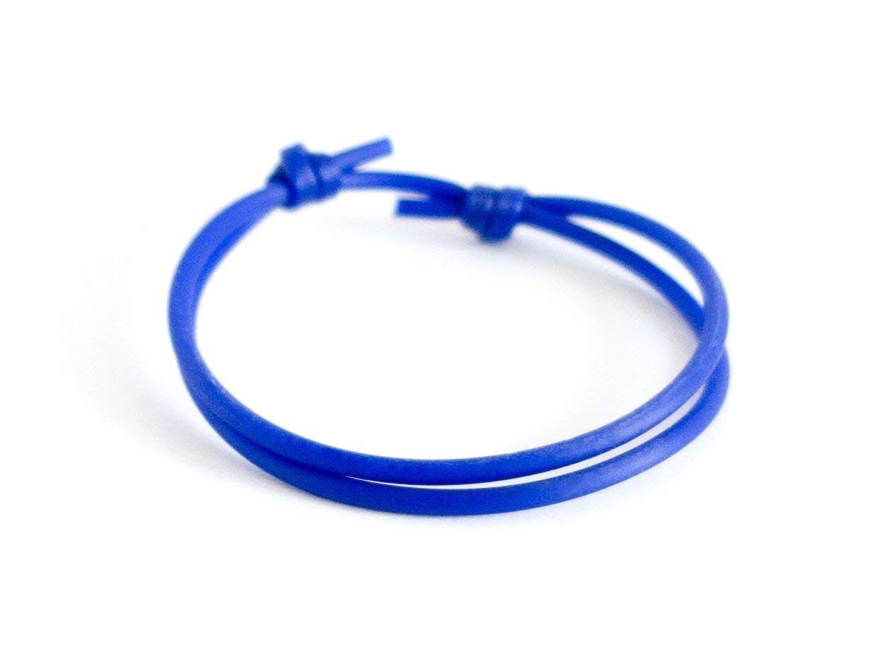 Get Quotations Sliding Bracelet Clasp Knot Mens Blue Rope Adjule Jewelry Silicone Athletic Cord Cuff Fishing Fitness Gift