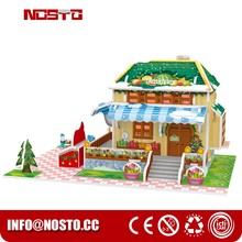 Build Your Own Fruit Grocery | LED Merry Christmas House 3D Puzzle PlaySet