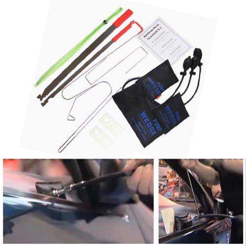 TOOGOO Car Door Lock Out Emergency Open Unlock Key Tools Kit Black Air Pump Universal