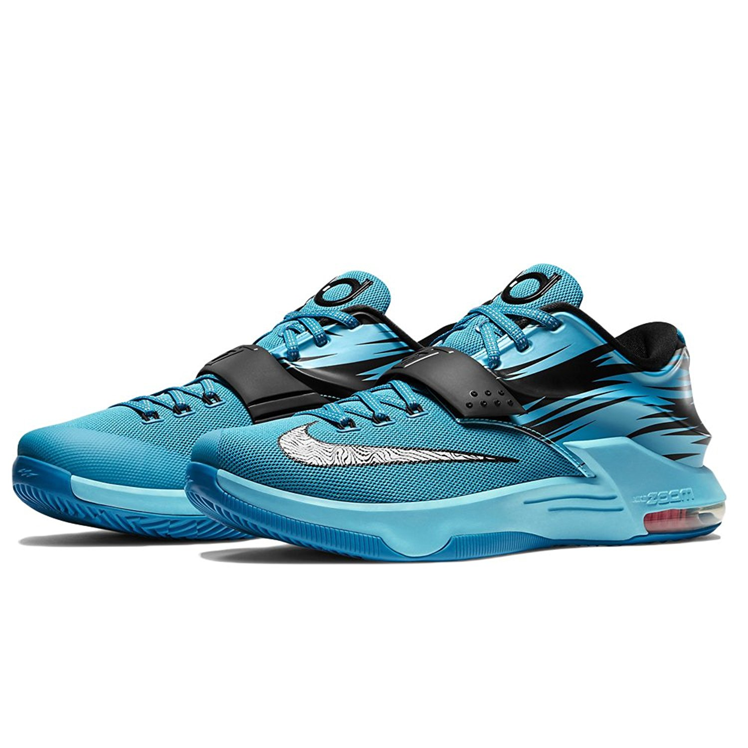 finest selection 14863 ad3a3 Get Quotations · Nike KD VII 7 Clearwater - Light Blue Lacquer - White -  Total Orange Mens 8.5