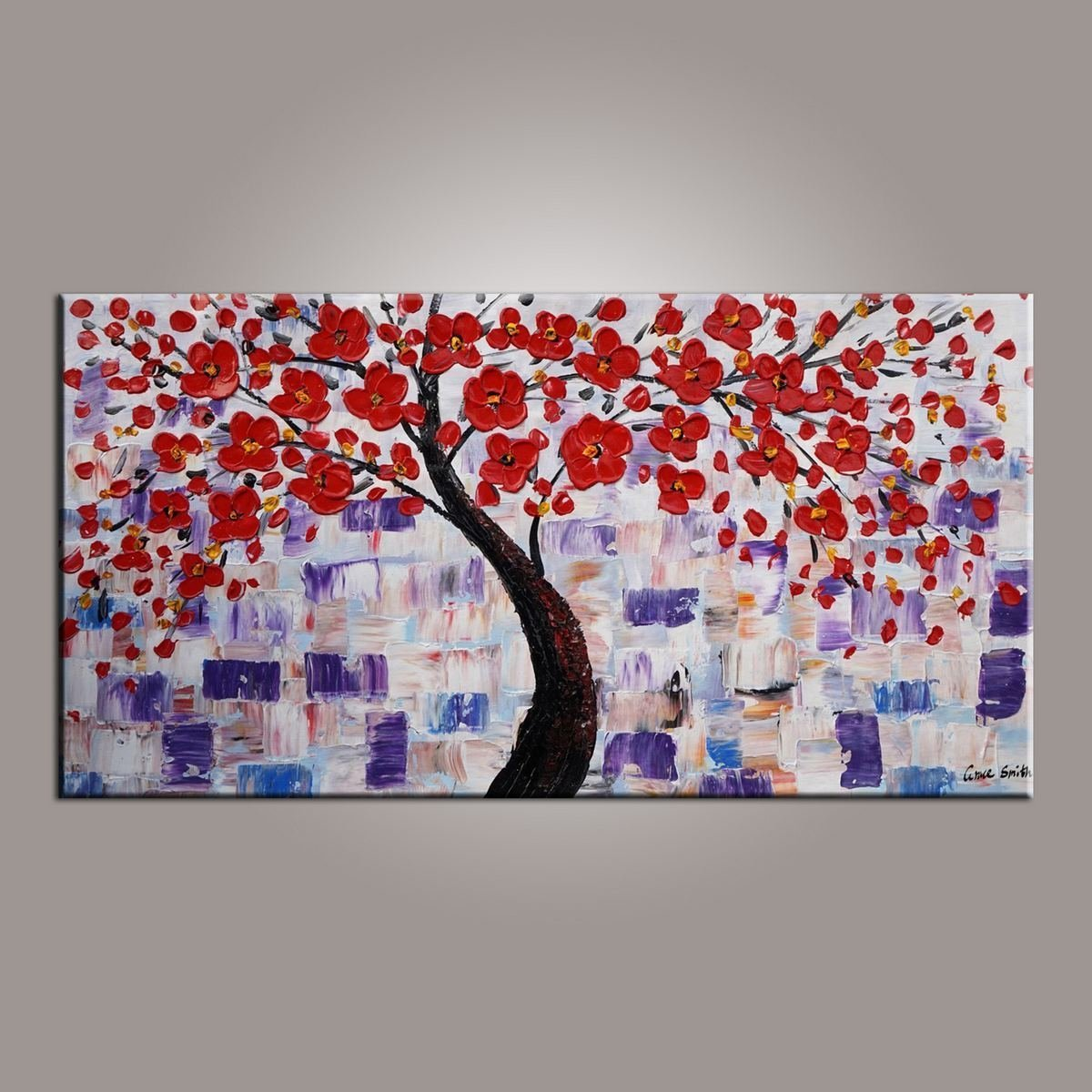 Flower Painting, Tree Painting, Canvas Painting, Modern Art, Canvas Art, Large Art, Original Painting, Abstract Wall Art, Large Wall Art, Abstract Painting, Abstract Art, Canvas Wall Art, Wall Decor