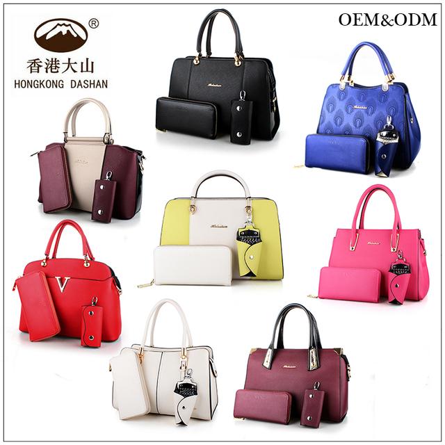 da2cfbbc8a81 HK18 New design bags pu leather handbag ladies in handbags set women bag  for work made