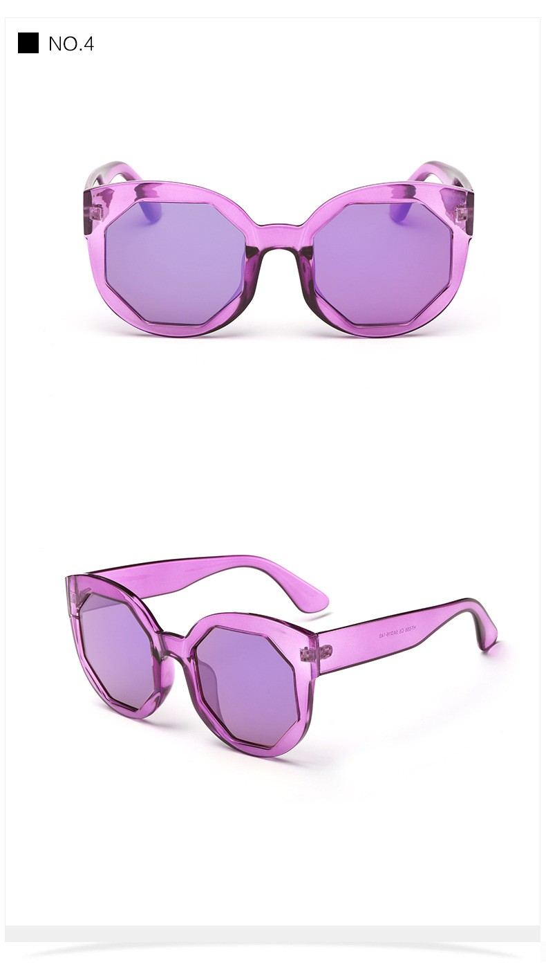 New Fashion Women Sunglasses Cat Eye Shades Luxury Brand Designer Mirror Sun glasses Integrated Eyewear Candy Color UV400 CC5026