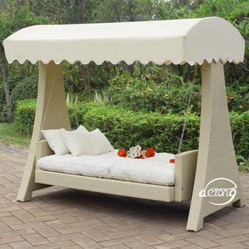 Patio Hammock Swing Bedding Outdoor PE Rattan Furniture Garden Swing Chair  Bed