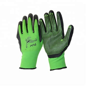 micro foam safety gloves nitrile coated nitrile garden gloves