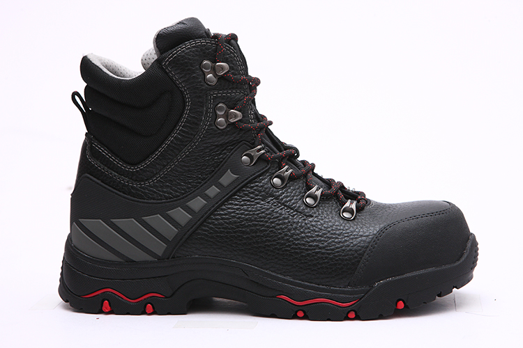 Steel toe Fashion safety mesh Breathable slip Black personal Anti Leather Full Protection price sole shoes Rubber Grain 7qxOwr76