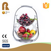 Living room chrome plate wire 2 layer fruit basket