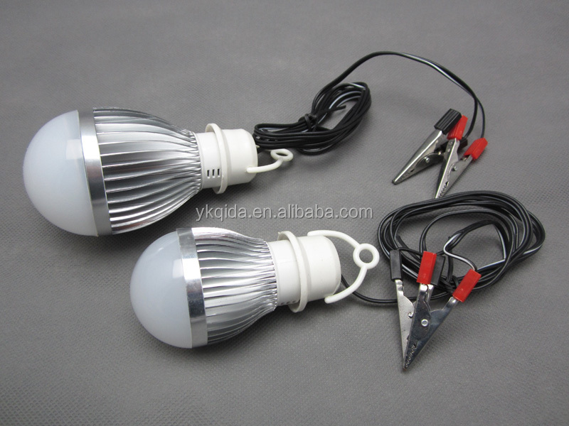 DC12V LED bulb With alligator battery clips 3W